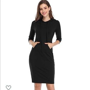 Casual Pullover Hoodie Dress